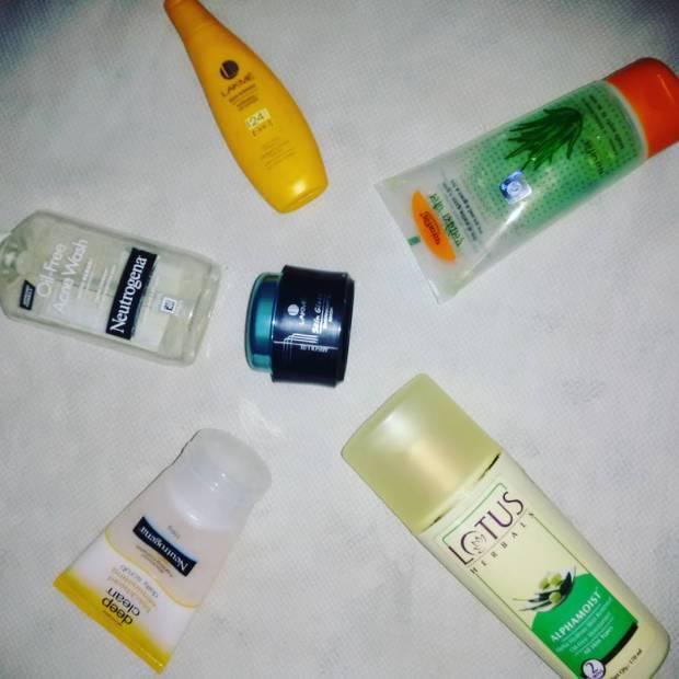 My daily skincare routine - Neutrogena, Lakme, Lotus Herbals, Patanjali