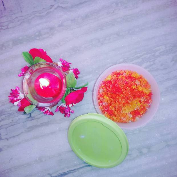 Candy colored Lip scrub