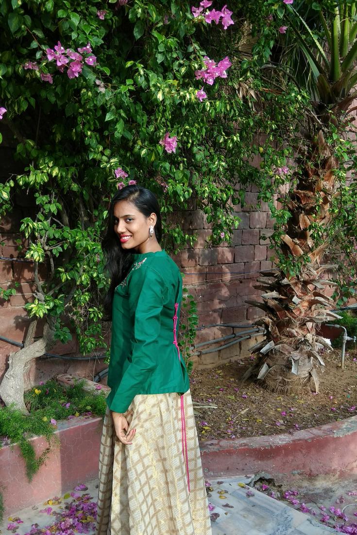 Maxi skirt and Shirt- Sangeet Look
